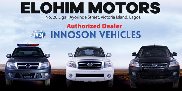 Elohim Autos Innoson Authorized Dealer